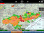 ADS-B weather information during flight trials (iPad display)