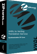 VHDL to Verilog translation service